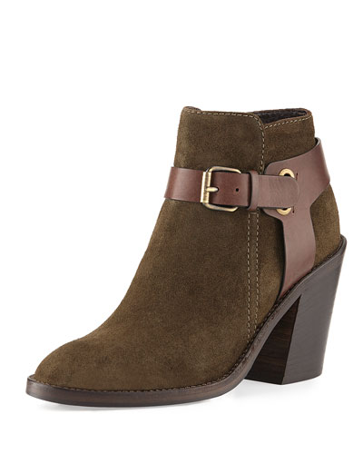 Liana Weatherproof Buckle Ankle Boot, Herb