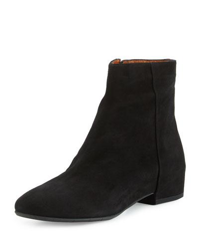 Uri Weatherproof Suede Ankle Boot, Black