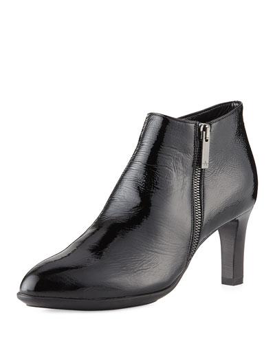Dina Weatherproof Side-Zip Ankle Boot, Black