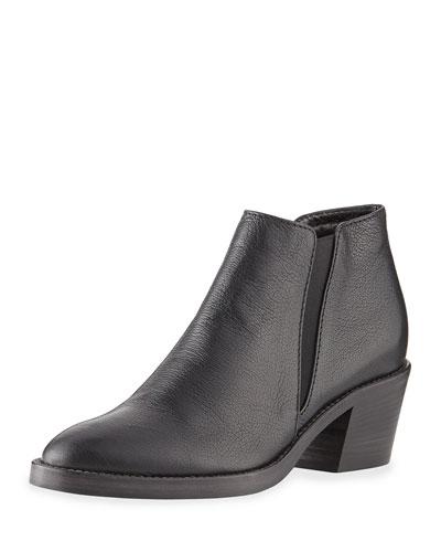 Lillian Weatherproof Leather Bootie, Black
