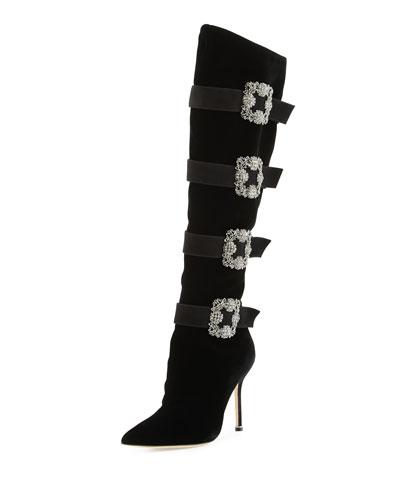 Fufius Hangisi 105mm Knee Boot, Black