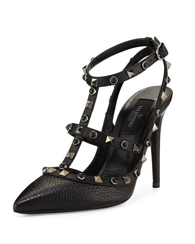 Rockstud Rolling 100mm Pump, Black (Nero)