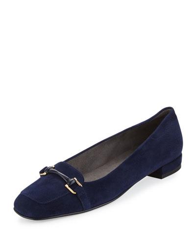 Mocnroll Horsebit Suede Loafer, Nice Blue