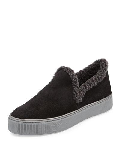 Nowplaying Shearling Sneaker, Black