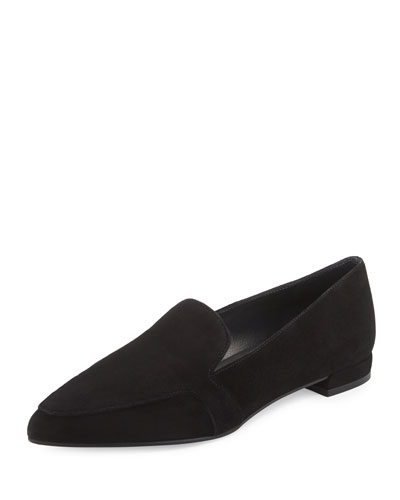 Pipelopez Pointed-Toe Loafer, Black
