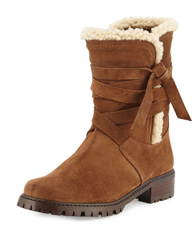 Snowfield Shearling Ankle Boot, Cigar