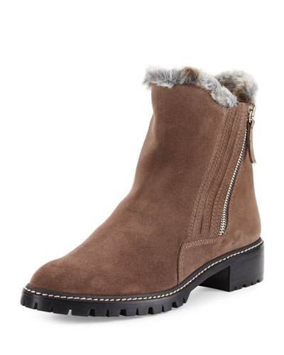Stormy Shearling Ankle Boot, Seal