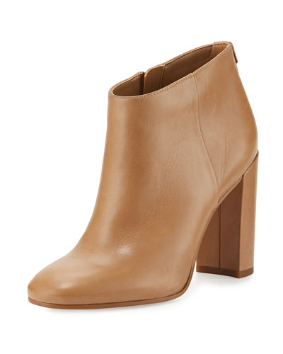 Cambell Leather 95mm Ankle Boot, Golden Caramel