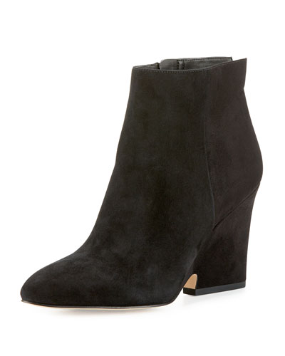 Wilson Suede Wedge Bootie, Black