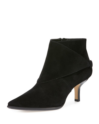 Loli Suede Ankle Boot, Black