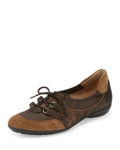 Bonnie Stretch Suede Sneaker, Bronze