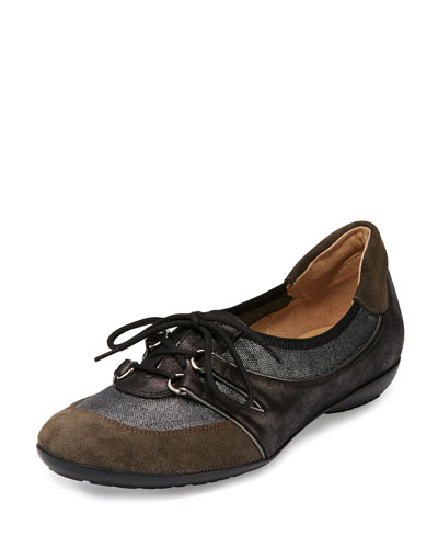 Bonnie Stretch Suede Sneaker, Pewter