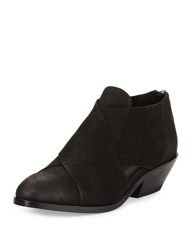 Cluster Leather Crisscross Bootie