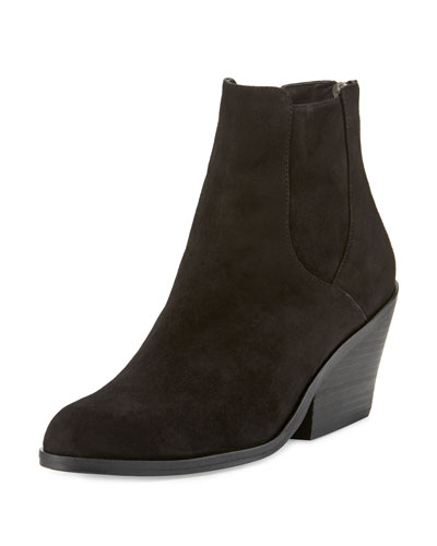 Peer Suede Ankle Boot, Black