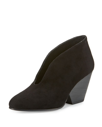 Iman Suede Ankle Boot, Black