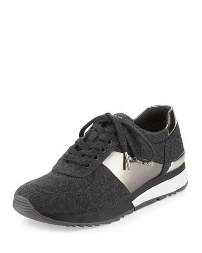 Allie Flannel Trainer Sneaker, Charcoal