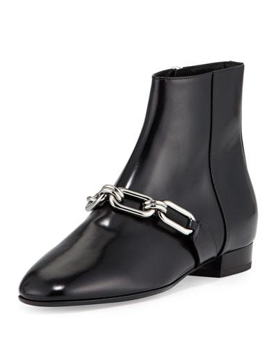 Lennox Leather Link Bootie, Black
