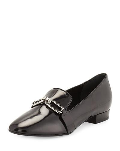 Lennox Leather Link Loafer, Black