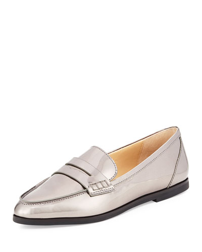 Connor Patent Leather Penny Loafer, Gunmetal