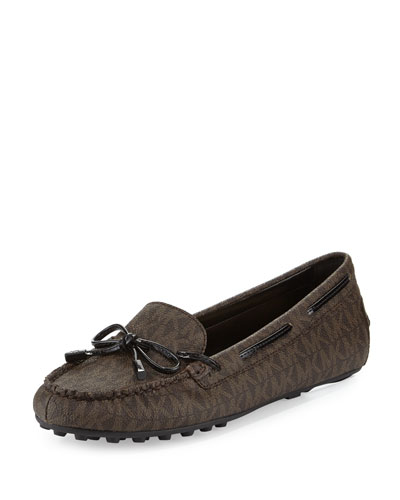 Daisy Logo-Print Moccasin, Brown