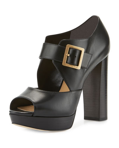 Eleni Mary Jane Platform Sandal, Black