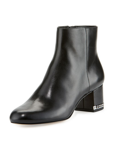 Sabrina Leather Ankle Boot, Black
