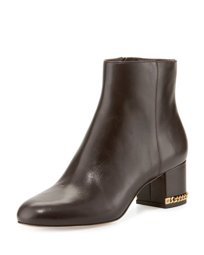 Sabrina Leather Ankle Boot, Coffee