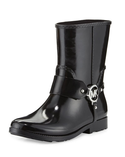 Fulton Harness Short Rain Boot, Black