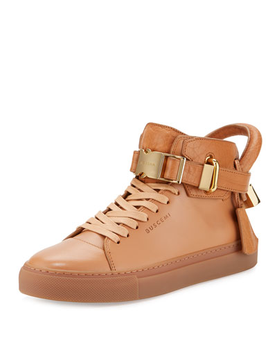 Women's 100mm Clip High-Top Sneaker, Peanut
