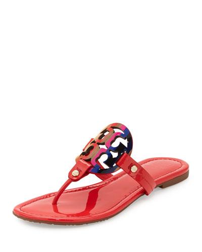 Miller Rainbow Logo Flat Sandal, Vermillion