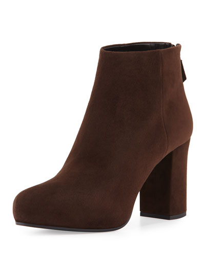 Suede 85mm Ankle Boot, Moor (Moro)
