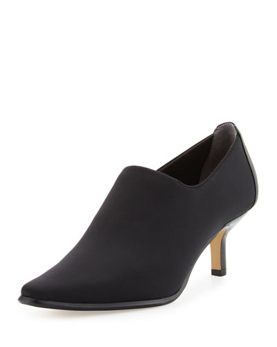 Loui Stretch Crepe Bootie, Black