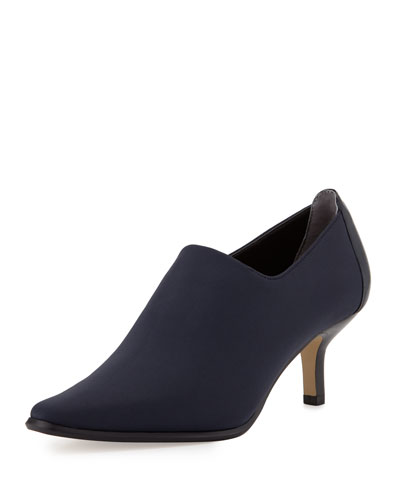 Loui Stretch Crepe Bootie, Navy