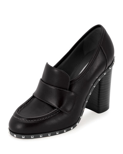 Soul Stud Rockstud 100mm Loafer, Nero
