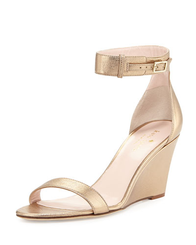 ronia naked wedge sandal, quartz