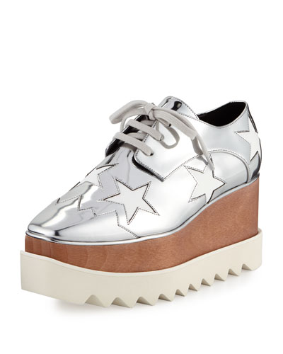 Elyse Star Platform Oxford, Indium/White