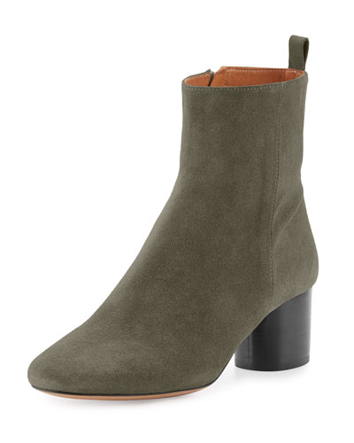 Deyissa Suede Ankle Boot, Taupe