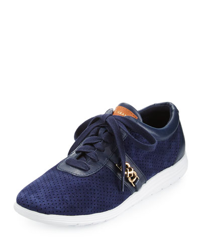Bria Grand Sport Oxford Sneaker, Marine Blue