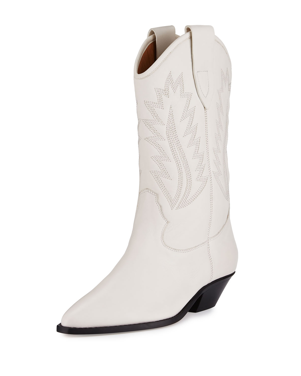 Dallin Leather Western Boot, White