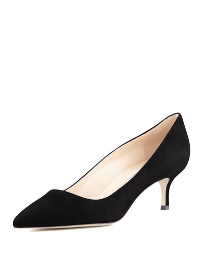 BB Suede 50mm Pump, Black
