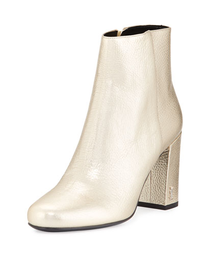Babies Metallic 90mm Ankle Boot, Platino