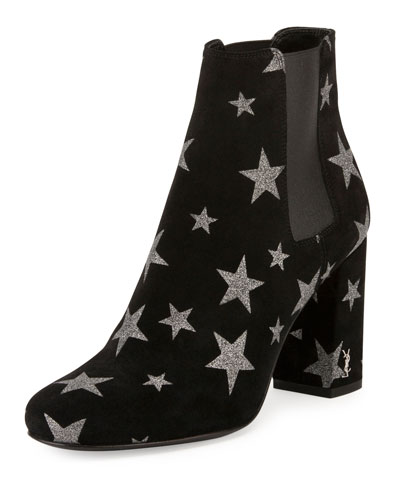 Babies Star 90mm Chelsea Boot, Nero/Argento