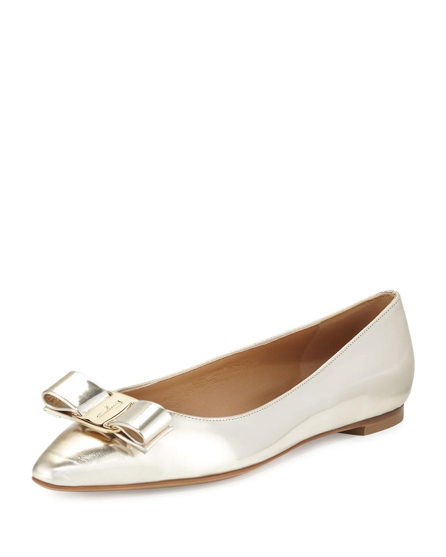 Bow Ballerina Flat, Butter/Oro