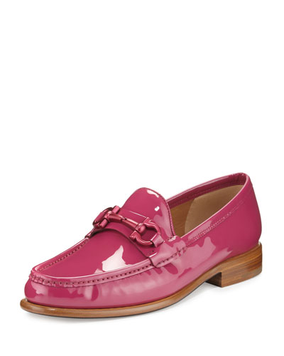 Mason Patent Leather Loafer, Sangria