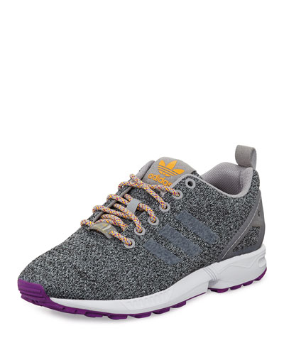 ZX Flux Textile Sneaker, Solid Grey/Solar Gold
