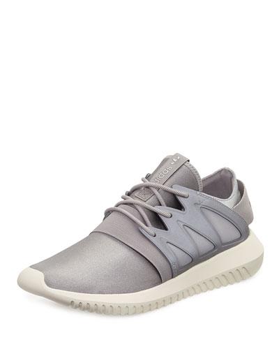 Tubular Viral Neoprene Sneaker, Metallic Silver/Core White
