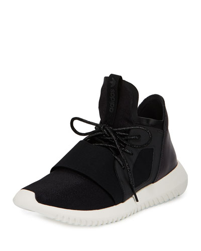 Tubular Defiant High-Top Sneaker, Core Black/White