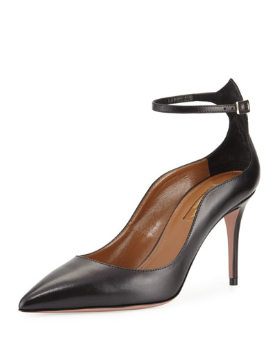 Dolce Vita Leather 85mm Pump, Black