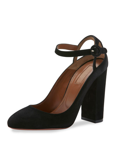 Sweet Thing Suede 105mm Pump, Black