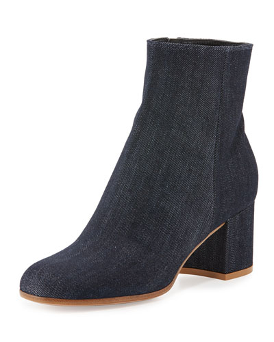 60mm Block-Heel Ankle Boot, Blue